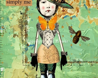 Original collage  for you to print and hang, vintage, collage, art, whimsy, romance, steam punk, fairies, friends, sisters, love.