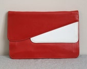 Carnaby Street Mod Red and White 60s Clutch With Removable Strap