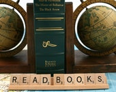 READ BOOKS Scrabble Letters Sign RECYCLED