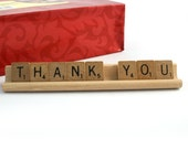 THANK YOU Scrabble Letters Sign RECYCLED