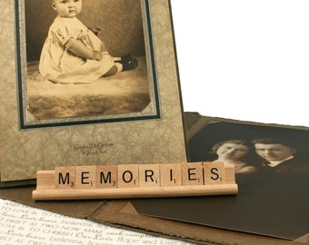 MEMORIES Scrabble Letters Sign RECYCLED