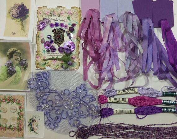 Crazy Quilt stash builder purple