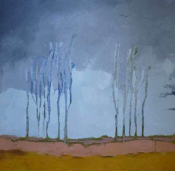 oil painting abstract landscape modern art, When the Trees Say Nothing