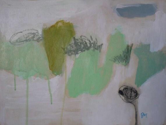 original abstract on wood pamela munger