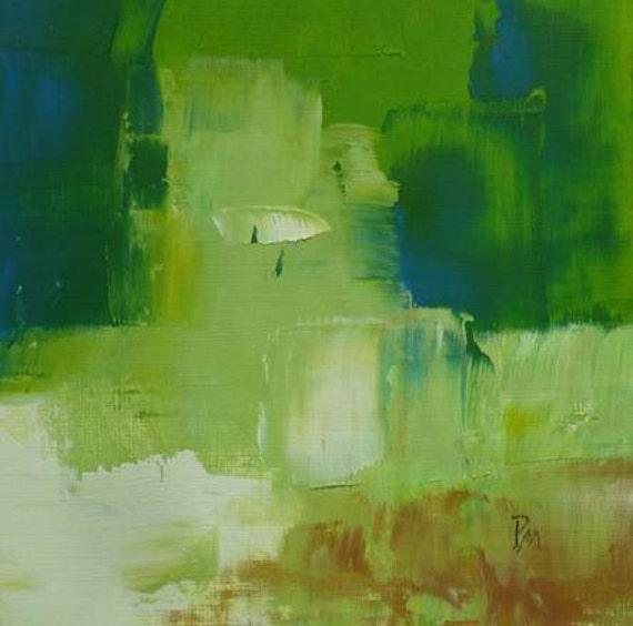 Original Abstract Oil Painting Modern Art Spring Garden