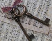 Long Vintage Style Skeleton Keys - ZNE