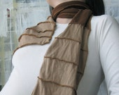 Eco Long Brown Wrap in Bamboo and Organic Cotton