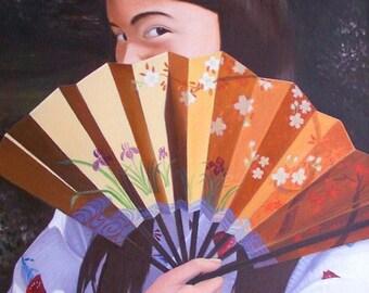 """Susan, Print of my Original Oil Painting, 8"""" x 10"""" Print in 11"""" x 14"""" Mat"""