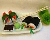 Sushi set Felt childrens play food