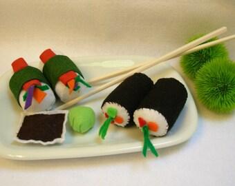 felt sushi play set childrens play food