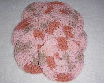Hand Crochet 6 Scrubbie Gift Set - Maple Sugar