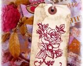 Rustic Rose Tags