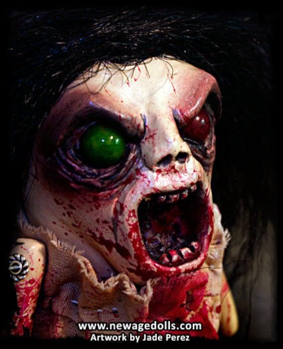 Zombie Doll Monster - Hagitha - Handmade Art