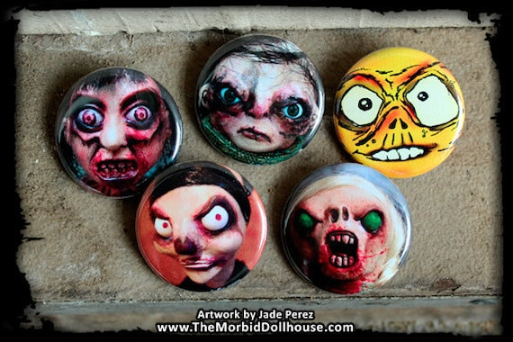 Creepy Doll Button Pack