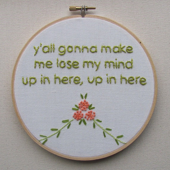Items similar to embroidered rap lyrics party up by dmx