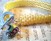 Bright Sunshine Beadwoven Bracelet