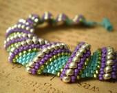 Bright Flat Cellini Spiral Bracelet