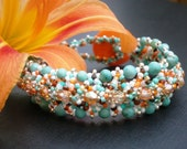 Tropical Orange Beaded Bracelet