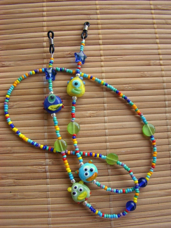 Rainbow Monster Party Eyeglass Chain