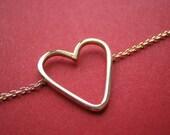 14k Gold Tiny Heart Choker