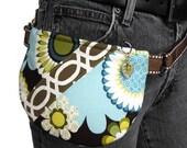 For Dana - Tree Tops Dusk - Hipster - Convertible Hip Belt Bag Turquoise Brown Flowers Butterflies