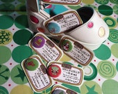 holly jolly stuff for stockings set (7 pin-back buttons)