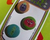 mental vegetables magnet set (friends of summer)