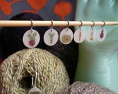 mental vegetables x-small stitch markers (roots and tubers)