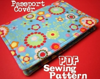 INSTANT DOWNLOAD - PDF Sewing Pattern - Passport Cover | Holder | Case