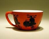 16oz cup vespa (tangerine)