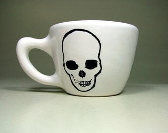 12oz cup skull - Made to Order / Pick Your Colour