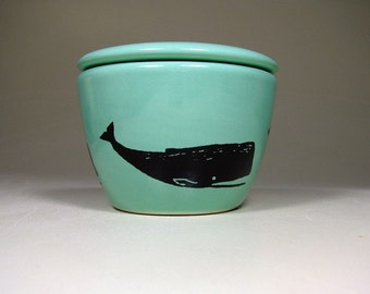 lidded bowl whale - Made to Order/ Pick Your Colour