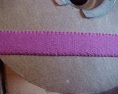 Elastic 1/2 MAGENTA PINK Fushchia Scalloped Plush STRAP Elastic Headband
