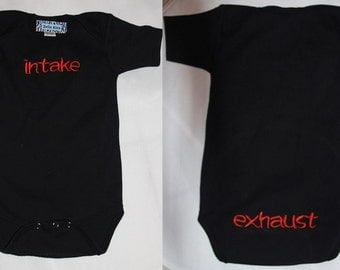 Baby embroidery gifts, Baby onesie funny, Baby onsie funny, Daddys Little Gear Head, Car Enthusiasts Custom NB to 18 mths Black