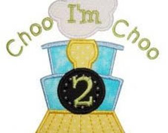 Choo Choo I'm Birthday Train t tee shirt