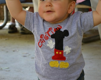 Custom Personalized Minnie or Mickey Birthday Mouse Shirt Boy Girl