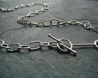 Silver Handmade Chain Modern Necklace