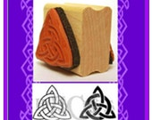Celtic Double Triquetra Rubber Stamp Two Designs on One Mounting #378