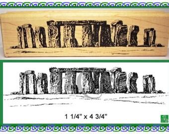 Stonehenge Rubber Stamp Ancient Britain #237