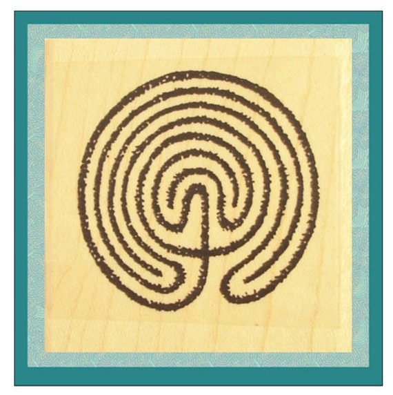 Labyrinth Maze Rubber Stamp