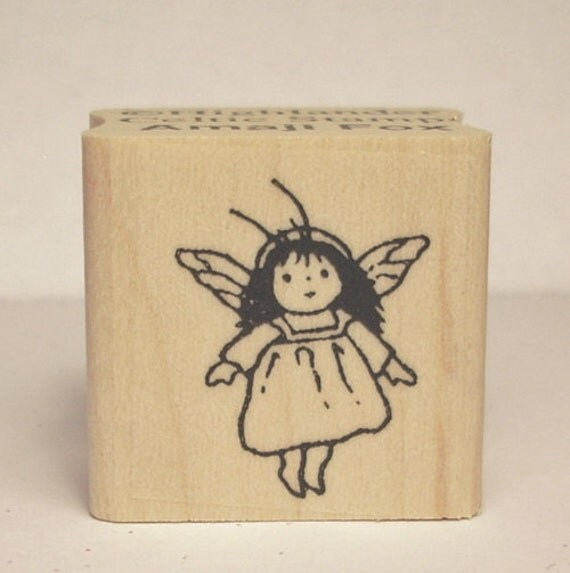 Tiny Faerie Girl Rubber Stamp New Faerie Village Collection Design 711
