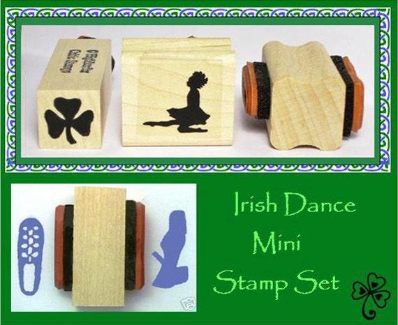 Irish Dance Mini Stamp Set 3 Stamps with 4 Designs