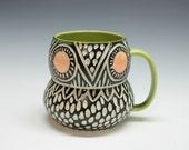 Modern Porcelain Owl Mug
