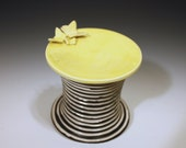 moving sale  Modern Porcelain Butterfly Cupcake Stand