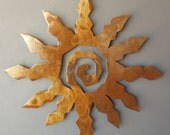 Metal Sun Burst Southwest Art Rusted Wall Hanging Extra Large 32 Inch