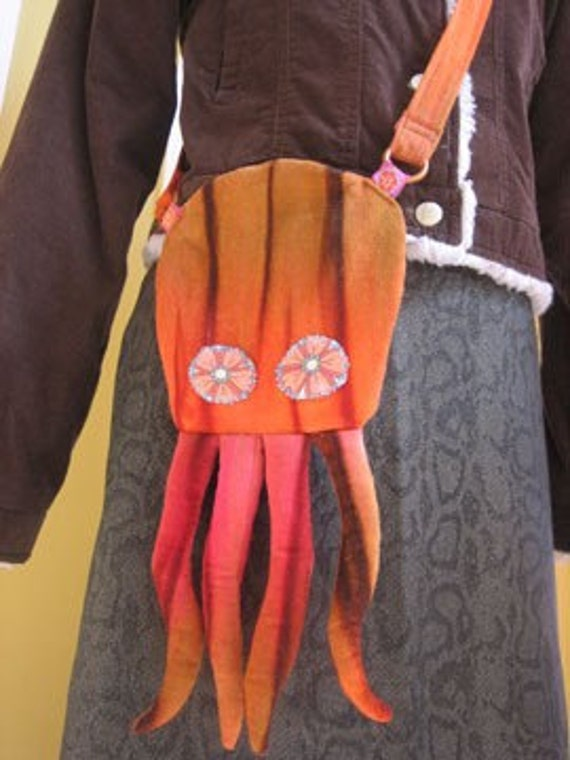 Corduroy Octopus Bag