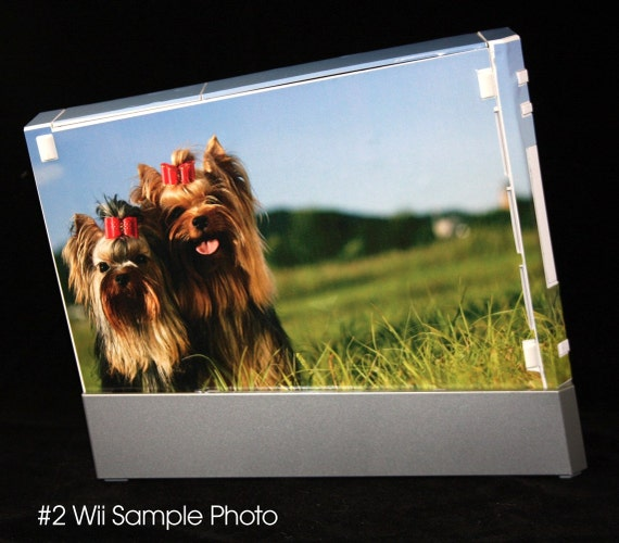 SALE - CUSTOM WII SKIN with PHOTO of your family or pet