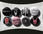 Donnie Darko Buttons or Magnets (set of 8) Don't be a fear prisoner. Buy this set.