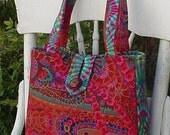 KAFFE FASSETT Fabric JUNGLE PAISLEY RUST Handbag