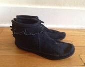 Vintage Minnetonka fringe ankle booties 8